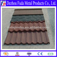 SONCAP nosen type Stone coated metal roof tile, stone coated roof tile