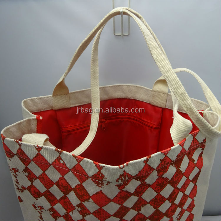 Promotional Outdoor shopping Handbag Cotton Canvas tote bag