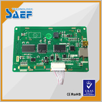 "5"" 800*480 resolution industrial lcd display 65K color tft display RS232 / TTL interface, with USB port, SD card and UART"