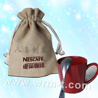 coffee beans packing jute bag