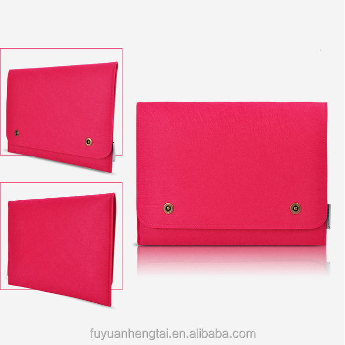 Customized color 15.6 inch felt laptop carrying case