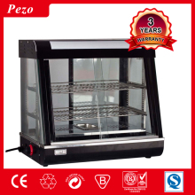 PEZO Counter top hot food display warmer / snack warmer display / glass food warmer display showcase
