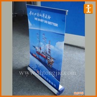 table mini pull up banner stand,roller banner