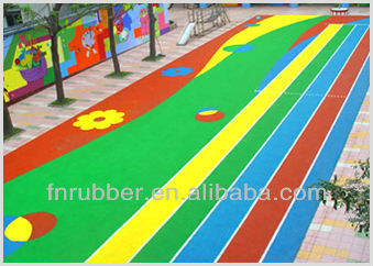 colorful playground rubber tiles manufacture
