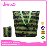 Printed 210D ployester bag women shopper bag