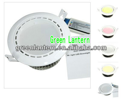 High bright high power 12w rgbw led downlight