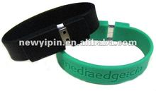 2012 economic OEM USB silicone wristband for promotion,1-32G