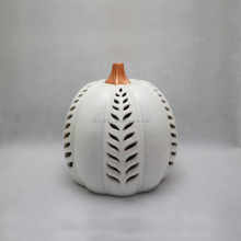 Decorative Ceramic Halloween Pumpkin Led Lighting