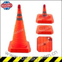 Flashlight PVC Retractable Traffic Cone
