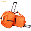 Outdoor international travel bags with trolley sleeve, wholesale luggage trolley bags