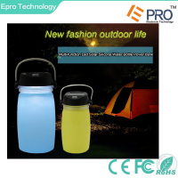 Hot Selling 2000mah Silicone water bottle solar charger waterproof solar power bank for mobile phones