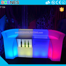 hot sale waterproof outdoor patio plastic acrylic beer garden treasures round bar illuminated golw light up led light furniture