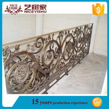 Alibaba Beautiful Used Modern Spiral Interior Removable Iron Stair Handrail/  Ornamental Cheap Modern Aluminum Stair