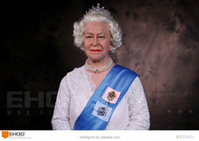 Elizabeth II Wax Figure for Museum Silicone Wax Mannequin Celebrities Wax Figures for Sale