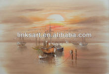 canvas oil painting boats china supplier