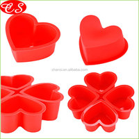 BPA free heart shape heat resisting baking cup tools non-stick bread baking mold silicone cake mold baking tools