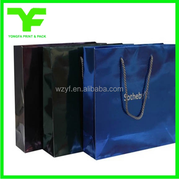 2017 LASER laminated carrier Luxury paper hand bag