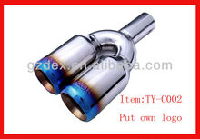 car Exhaust muffler tail with dual headers