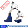 Indoor Adjustable Electro Hydraulic Basketball System with Tempered Glass Backboard