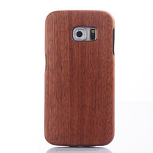 Hot Selling 100% Pure Wooden/Bamboo Split Type Cell Phone Case for Samsumg Galaxy S6