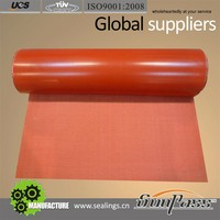 Factory Insulation Reinforced Silicon Cloth Siliconized Fiberglass Fabrics