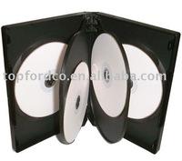22mm Black DVD case for 6 discs