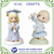Factory supply graduation gift mini girl figurine with a dog souvenir