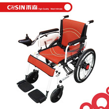 Steel folding frame electric power wheel chairs for disabled
