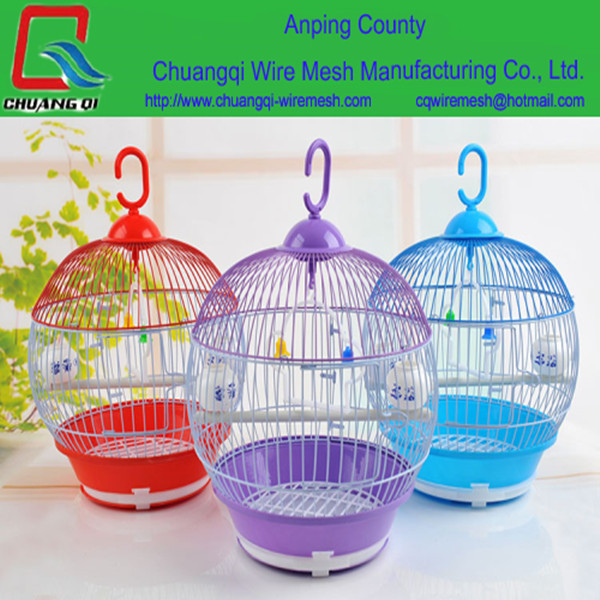 Elegant metal round bird pet cage, macaw cages with good quality