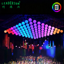 Rise and fall hanging DMX 20cm 30cm 40cm 50cm 60cm 80cm Multi color Led Ball For Events Decor