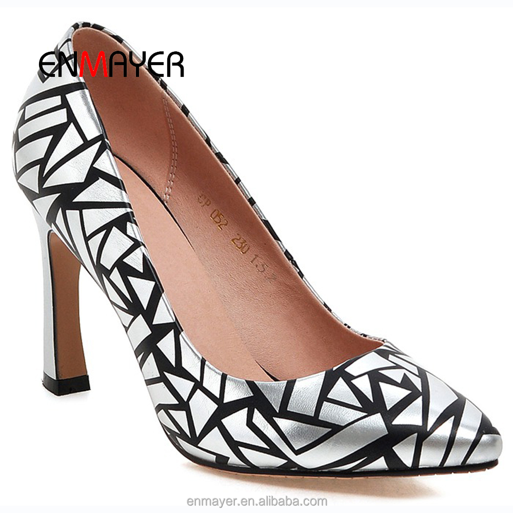 Elegant fashion printed 10cm women pumps high <strong>heel</strong>