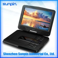 High quality cheapest 10 inch portable DVD player with screen for enjoying Christmas movies on home/car
