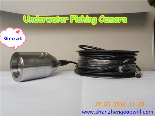 Stainless Steel Color CCD underwater surveillance camera with factory price (20M, 30M,40M,60M,100M,200M Optional)