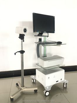 SW-3303 Digital Video Colposcope , Trolley Type Colposcope With Software, Colposcope