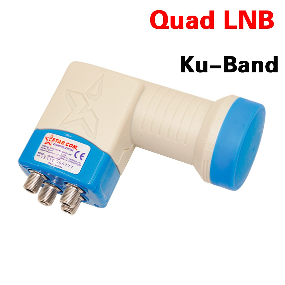 Quad LNB SR-4604 HD Digital Satellite 4 outputs 0.1db LNB LNBF,Full HD Digital KU Band 4-Output LNB LNBF