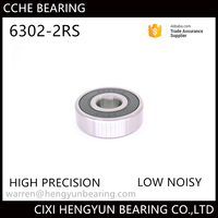 China Factory Supply Deep Groove Ball bearing 6302 RS OD 42 ID 15 for machine