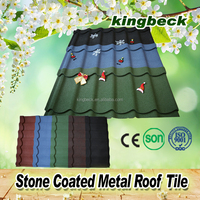 colorful stone coated steel roof tile/corrugated aluminum aluminium standing seam roof