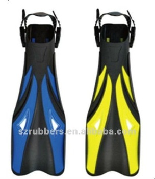 Long blade free diving fins