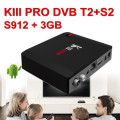 Widevine playready kiii pro s912 1080p android tv box dvb t2 android satellite receiver android dvb s2