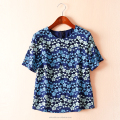 OEM New arrival Ladies flower lace shirt fashion design blouse women