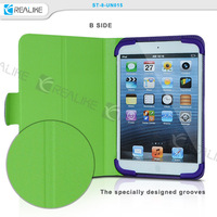 New designed groove fresh color tablet case for ipad mini,for ipad mini smart universal stand case