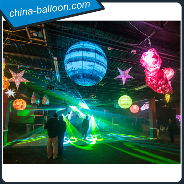 Dreamlike led inflatable Mercury balloon / hanging inflatable Jupiter planet