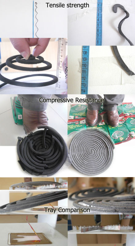 Cheap smokeless plant fiber paper mosquito coil incense