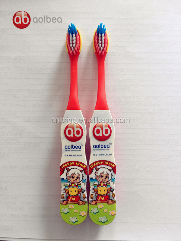 Private brand kids wholesale electric toothbrush cleaning brush with battery