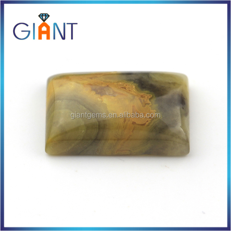 Wholesale loose natural rough moroccan agate gemstone rectangle cabochon in Dubai