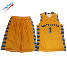 High quality custom basketball singlets/sleeveless sublimated basketball uniform