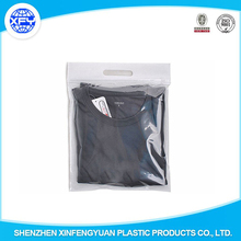 Plastic OPP Hanger Garment Self Adhesive underwear clothes packaging bag with header