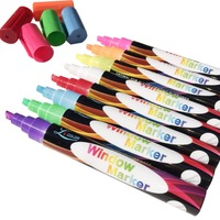 Crazy Sale - Liquid Chalk Markers - 8 Pack - 4.5mm Reversible Tip - Great for Chalkboard, Window, Glass, Whiteboards