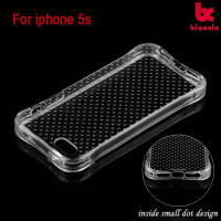 Air cushion soft case for iPhone 5s soft silicone clear cellphone case for iphone 5