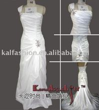 1696C obblique shoulder taffeta material wedding dress fashion design wedding gowns bridal dress of regal